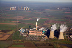 Power station aerial royalty free stock photos