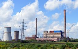 Power Station in Arad Romania. Coal and gas-fired power station in Arad,Romania stock photos