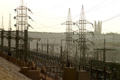 Power station in aswan Stock Image