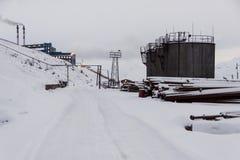 Power station in Barentsburg - Russian village on Spitsbergen Stock Photography