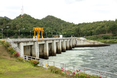 Power station at the Bhumibol Dam. In Thailand Royalty Free Stock Photos