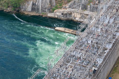 Power station at the Bhumibol Dam in Thailand Stock Images