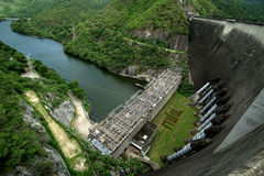 The power station on bhumibol dam Royalty Free Stock Images