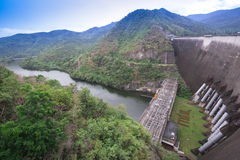 The power station at the Bhumibol Dam Royalty Free Stock Photography