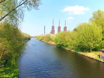 Power Station and Channel Stock Photo