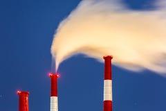 Power station chimneys Royalty Free Stock Photo