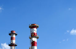 Power station chimneys Stock Image
