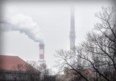 Power station chimneys. Stock Image