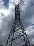 Power station, cloudy blue sky. Vladivostok countryside, nature Royalty Free Stock Photo