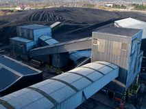 Power Station Coal Stock Pile Royalty Free Stock Images