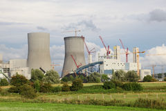 Power station construction. Construction of a nuclear power station Stock Photography