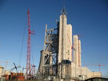 Power station construction. Construction of a new power station Stock Photography