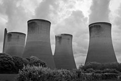 Power station cooling towers Royalty Free Stock Images
