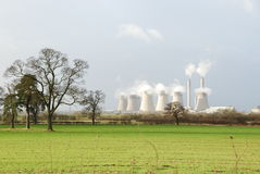 Power station in country Royalty Free Stock Image