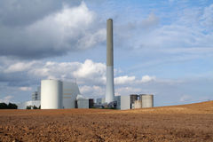 Power station in countryside Royalty Free Stock Photography