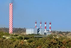 Power station in Cyprus Royalty Free Stock Images