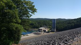 Power Station and Dam in Hot Springs National Park, Arkansas, USA. Power station at Blakely Dam of Lake Ouachita in Hot Spring National Park, Arkansas, USA Stock Image
