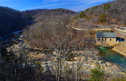 Power Station and Dam on the Roanoke River Royalty Free Stock Images