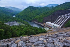 Power station and Dam Stock Photography