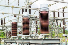 Power station, Electric station Royalty Free Stock Photos