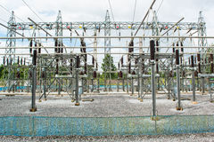 Power station, Electric station Royalty Free Stock Images