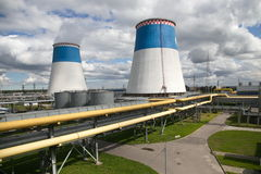 Power station. For electricity and heating, Russia. This picture was taken on June 20, 2014 Stock Image