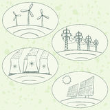 Power station energy doodles Stock Image