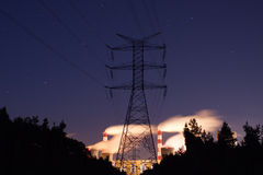 Power station on evening Royalty Free Stock Image