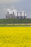 Power station in field Royalty Free Stock Photos