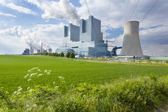 Power Station And Field Stock Image