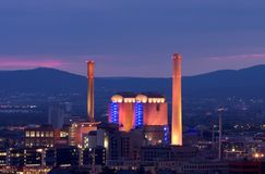 Power Station in Germany. At Dusk Stock Images