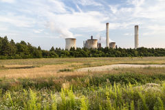 Power Station In Green Landscape Stock Images
