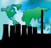 Power Station and Green world Royalty Free Stock Photography