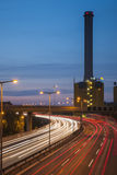 Power station on the highway Royalty Free Stock Photos