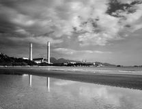 Power station Hong Kong. In black and white Royalty Free Stock Photography
