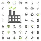 Power station icon. Eco and Alternative Energy vector icon set. Energy source electricity power resource set vector. Power station icon. Eco and Alternative Stock Photos