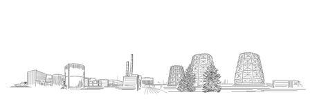 Power Station Illustration Stock Photo