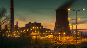 Power station - Industrial view Royalty Free Stock Images