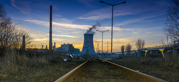 Power station - Industrial view Royalty Free Stock Photography