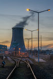 Power station - Industrial view Royalty Free Stock Photo
