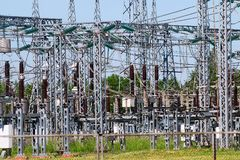 Power station. Industry. Electricity. The structure of the electrical plant Stock Images