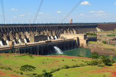 Power station Itaipu Dam, Brazil, Paraguay stock photo