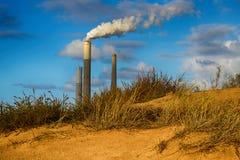 Power station near Ashkelon in Israel. Royalty Free Stock Image