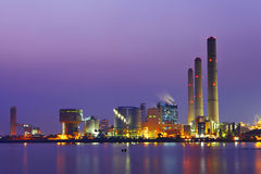 Power station at night Stock Photos