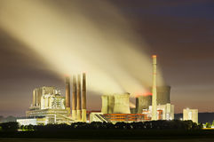Power Station At Night Royalty Free Stock Photo