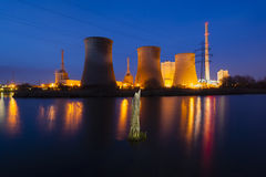 Power Station At Night Royalty Free Stock Images