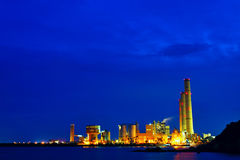 Power station at night Royalty Free Stock Photos