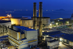 Power station night Royalty Free Stock Images