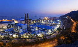 Power station night Stock Images