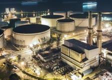 Power station at night Royalty Free Stock Photo